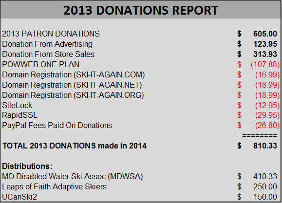 2013 SIA DONATIONS REPORT